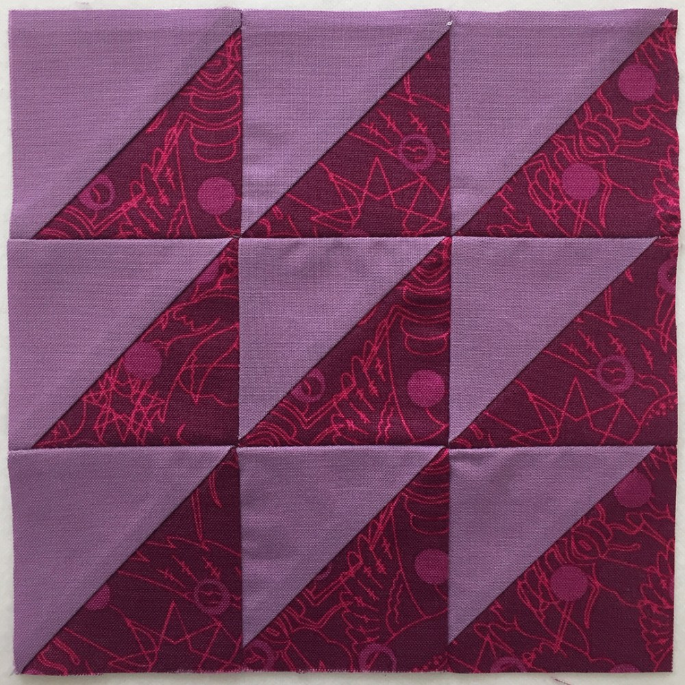 quilt block in red violet