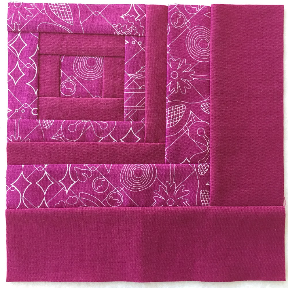 quilt block in red-violet