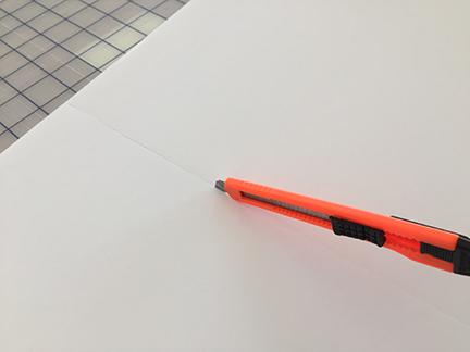 Craft knife cutting foam board