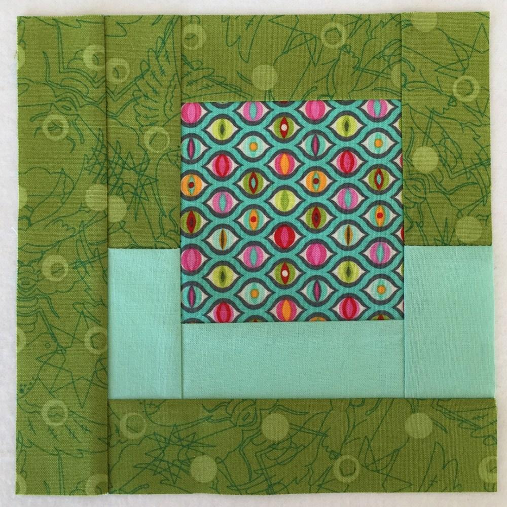 quilt block in green