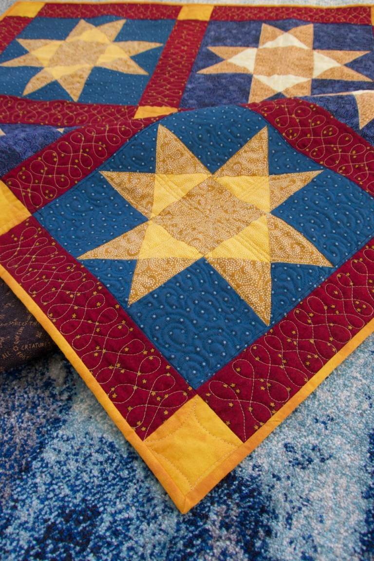 Closeup of quilt