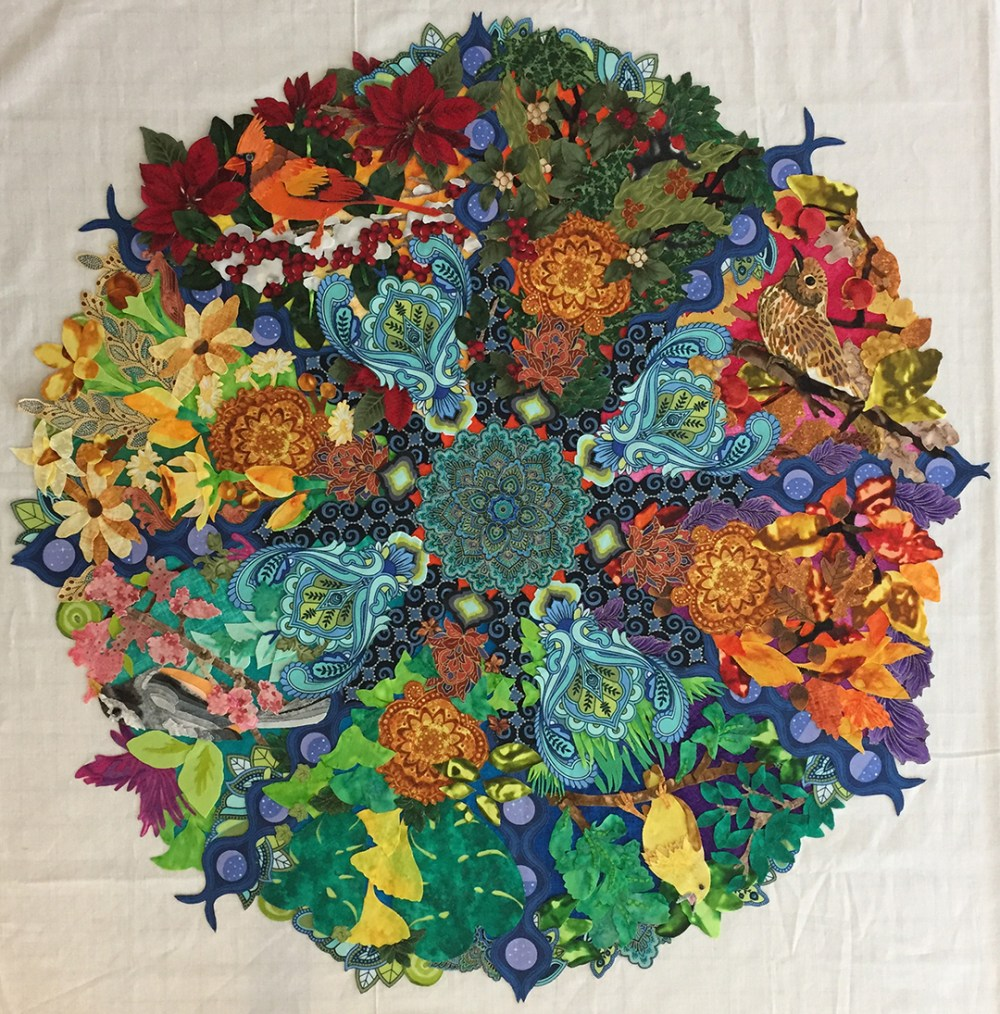 the whole mandala with all four birds