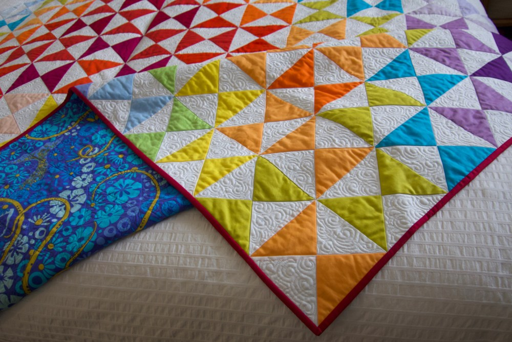 detail of corner of quilt