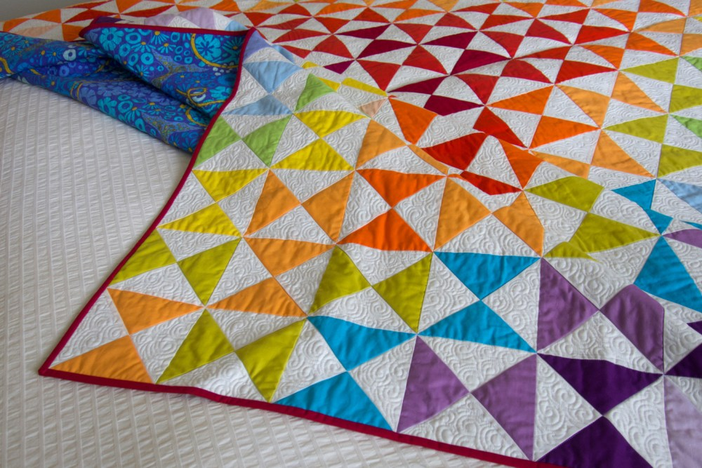 detail of quilt edge