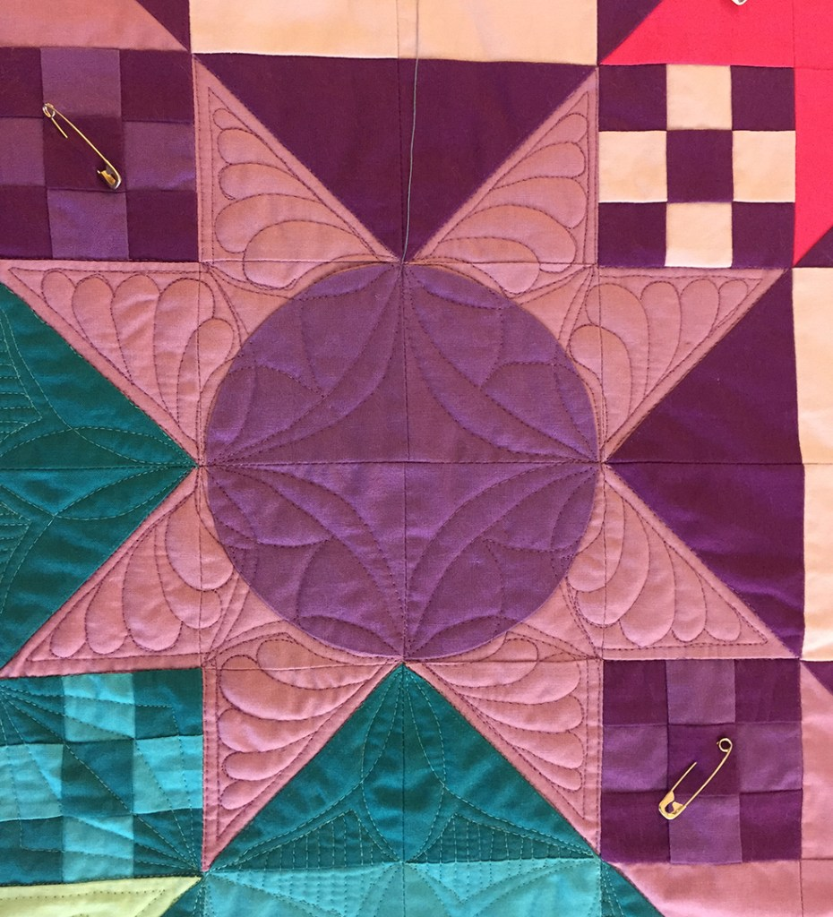 detail of an unsuccessful quilting design