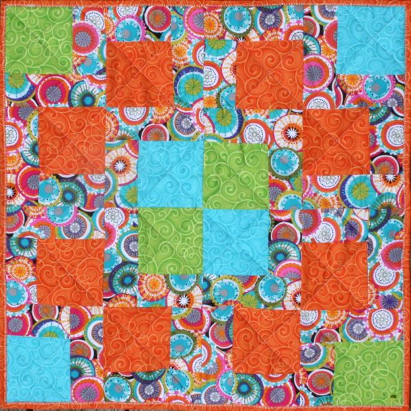 Fiesta! Table Topper Free Instructions at BOMquilts.com!