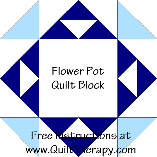 Flower Pot Quilt Block