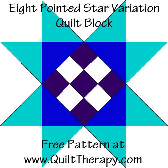 Eight Pointed Star Variation Quilt Block