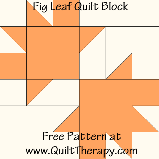 Fig Leaf Quilt Block