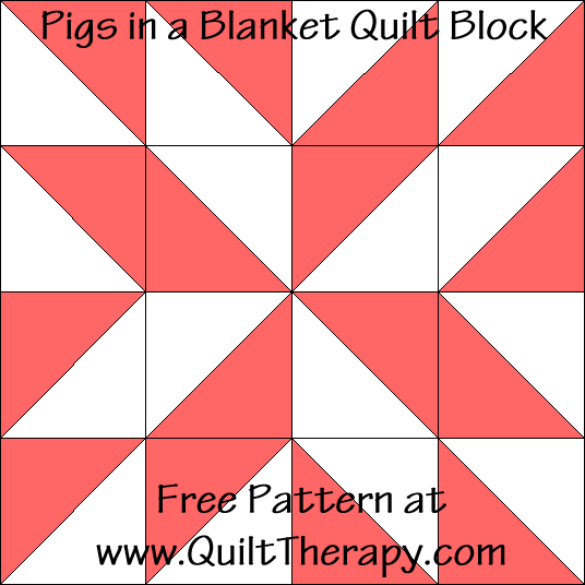 Pigs in a Blanket Quilt Block