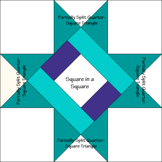Braced Star Quilt Block Diagram Free Pattern at QuiltTherapy.com!