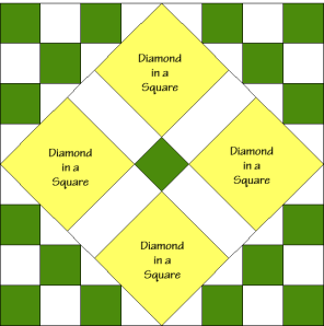 Rolling Star Quilt Block Diagram Free Pattern at QuiltTherapy.com!
