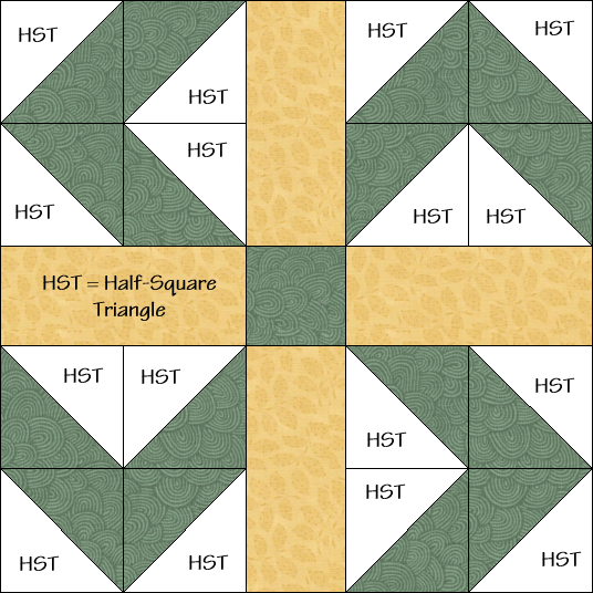 Farmer's Puzzle Quilt Block Diagram Free Pattern at QuiltTherapy.com!