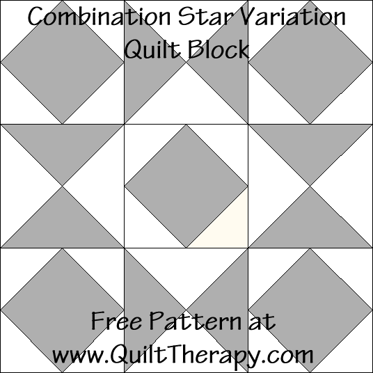 Combination Star Variation Quilt Block Free Pattern at QuiltTherapy.com!