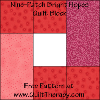 Bright Hopes Quilt Block Free Pattern at QuiltTherapy.com!