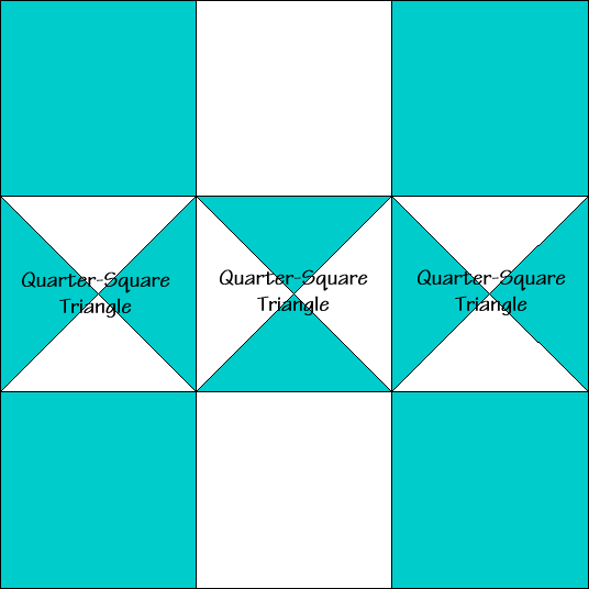 Triplet Quilt Block Diagram Free Pattern at QuiltTherapy.com!