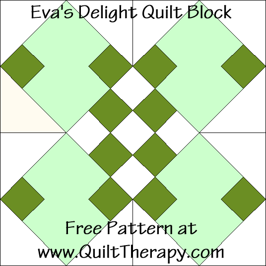 Eva's Delight Quilt Block Free Pattern at QuiltTherapy.com!