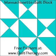 Massachusetts Quilt Block Free Pattern at QuiltTherapy.com!