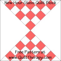 New Hour Glass Quilt Block Free Pattern at QuiltTherapy.com!