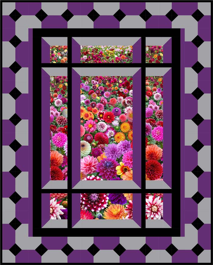 Window Quilt Pattern : window, quilt, pattern, Modern, Window, Quilt, Pattern, BS2-421, (advanced, Beginner,, Hanging)
