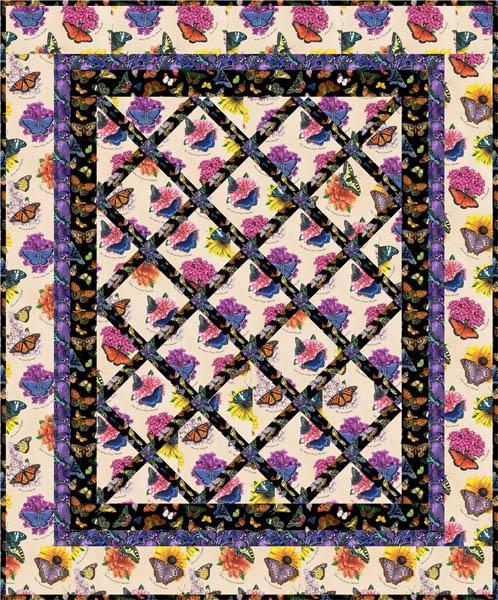 Garden Lattice Quilt Pattern : garden, lattice, quilt, pattern, Garden, Lattice, Straight, Point, Series, Quilt, Pattern, QW-10