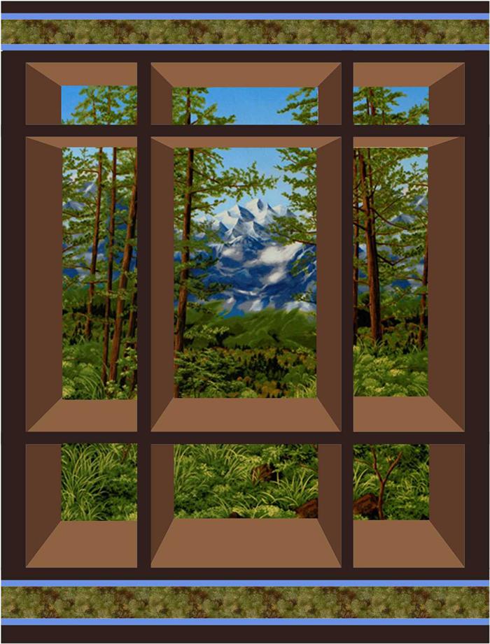 Window Quilt Pattern : window, quilt, pattern, Window, Quilt, Pattern, CS-01