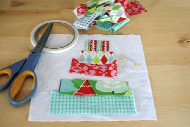 supplies for scrap christmas potholders