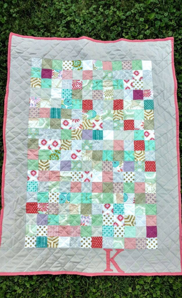 baby girl bridesmaids dress quilt (6)