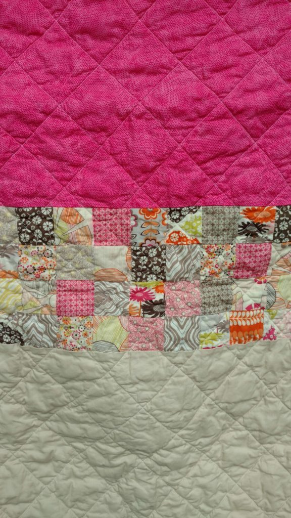 patchwork baby girl quilt back