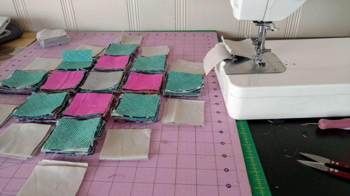 chain piecing quilt blocks
