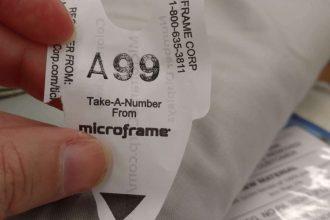 customer feedback, joann fabric cutting counter, cutting ticket, take a number