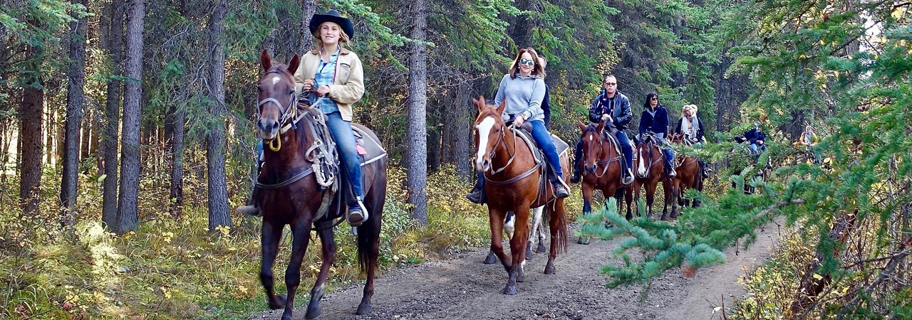 Horseback riding near Quimby Country