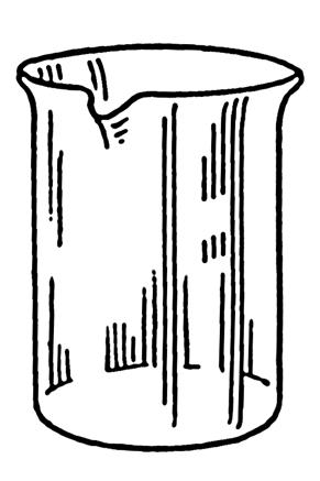Dibujo de un beaker o vaso de precipitados