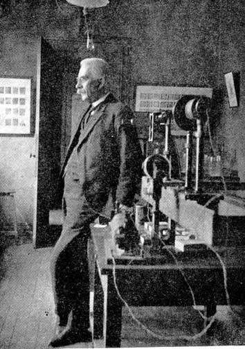 Henry Le Chatelier en su laboratorio