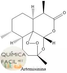 Estructura de la Artemisinina