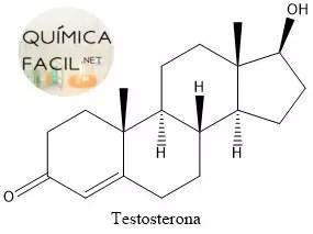 Estructura de la testosterona