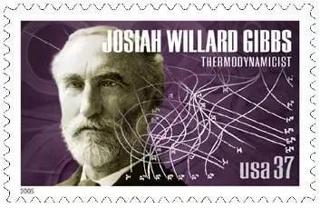Sello postal con la efigie de Josiah Willard Gibbs. EEUU, 2005