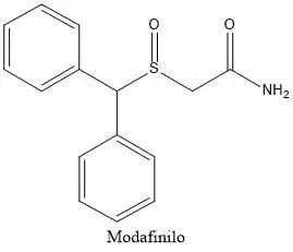 Estructura del modafinilo