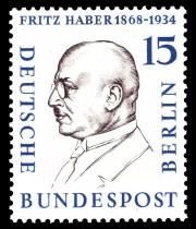 Sello postal alemán en honor a Fritz Haber