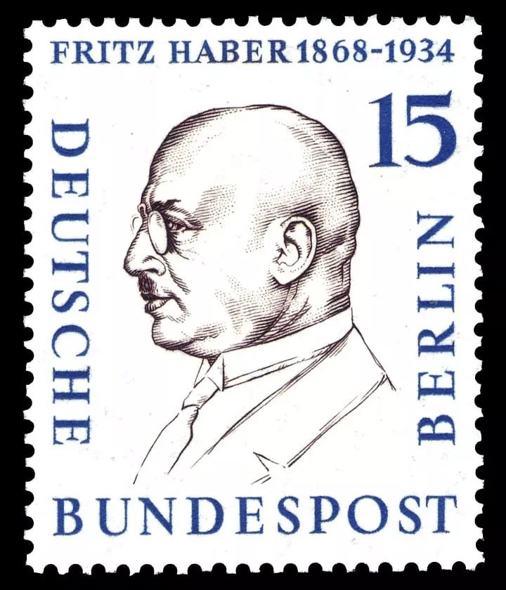 Sello postal alemán en honor a Fritz Haber