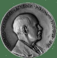 Medalla del premio Edward Goodrich Acheson, nombrado en su honor por The Electrochemical Society