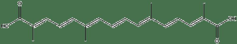 Estructura 2D de la crocetina