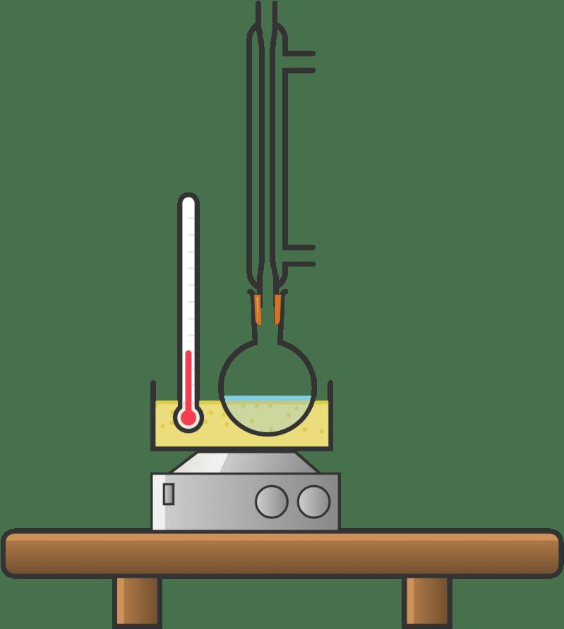 Montaje de reflujo para síntesis de fenolftaleína