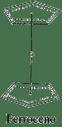 Estructura 2D del ferroceno