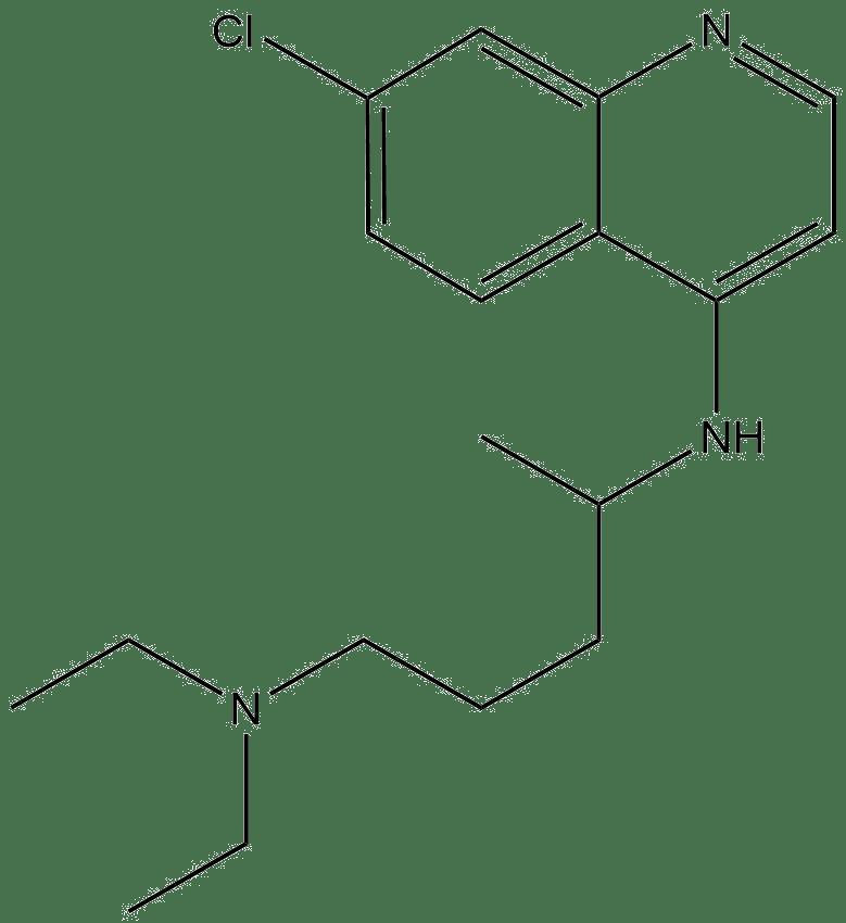 Estructura 2D de la cloroquina