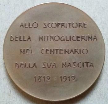 Medalla conmemorativa del centenario de nascimiento de Ascanio Sobrero - 1912