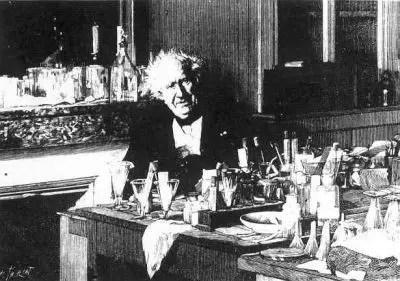 Fotografía de Michel Eugène Chevreul a sus 100 años