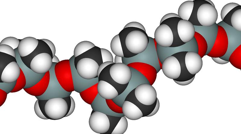 Estructura de esferas de la dimeticona o PDMS