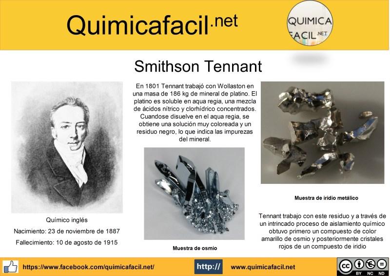 Infografía Smithson Tennant