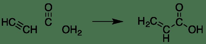 Síntesis de ácido acrílico a partir de etileno.